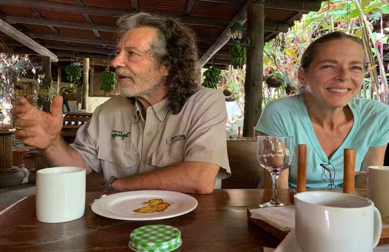 Owners Juan Sostheim and Liz Grieco at Rancho Margot Organic Farm.