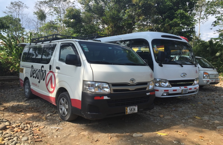 Best shared ride shuttle from San Jose to Arenal with Desafio Adventure Company.