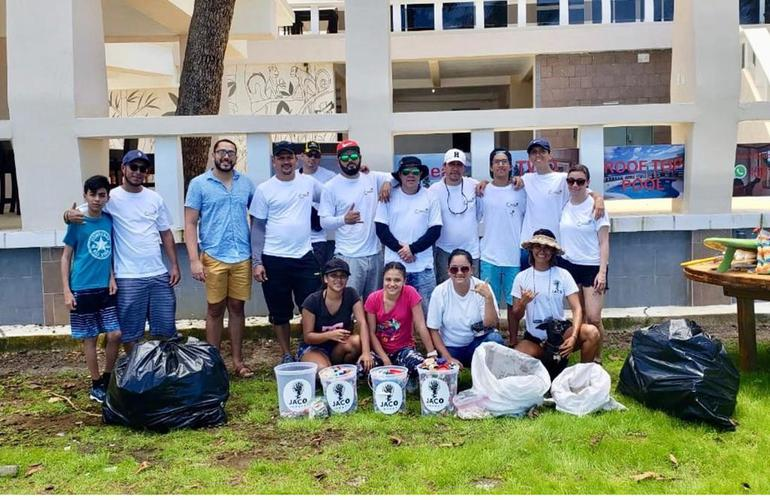Jaco impact Recycling Project on Jaco Beach.