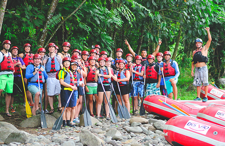 Have an awesome time with your team on our Desafio Team Building Adventure Rafting in Costa Rica!