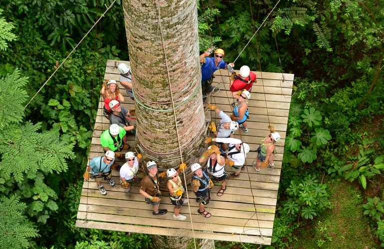 Ziplining tour near Jaco beach.