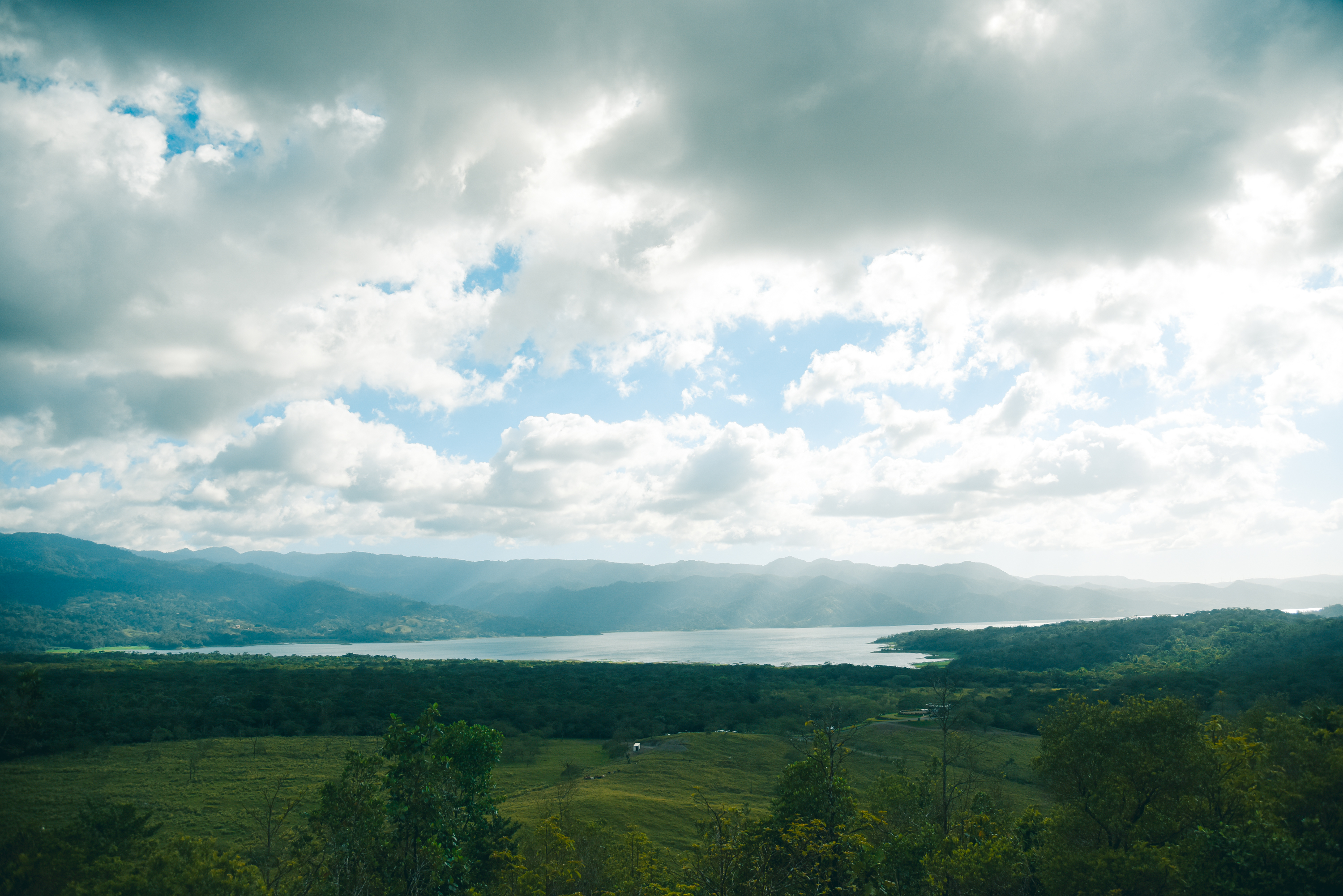 Spectacular panorama of the biggest Lake in Costa Rica, Arenal Lake!