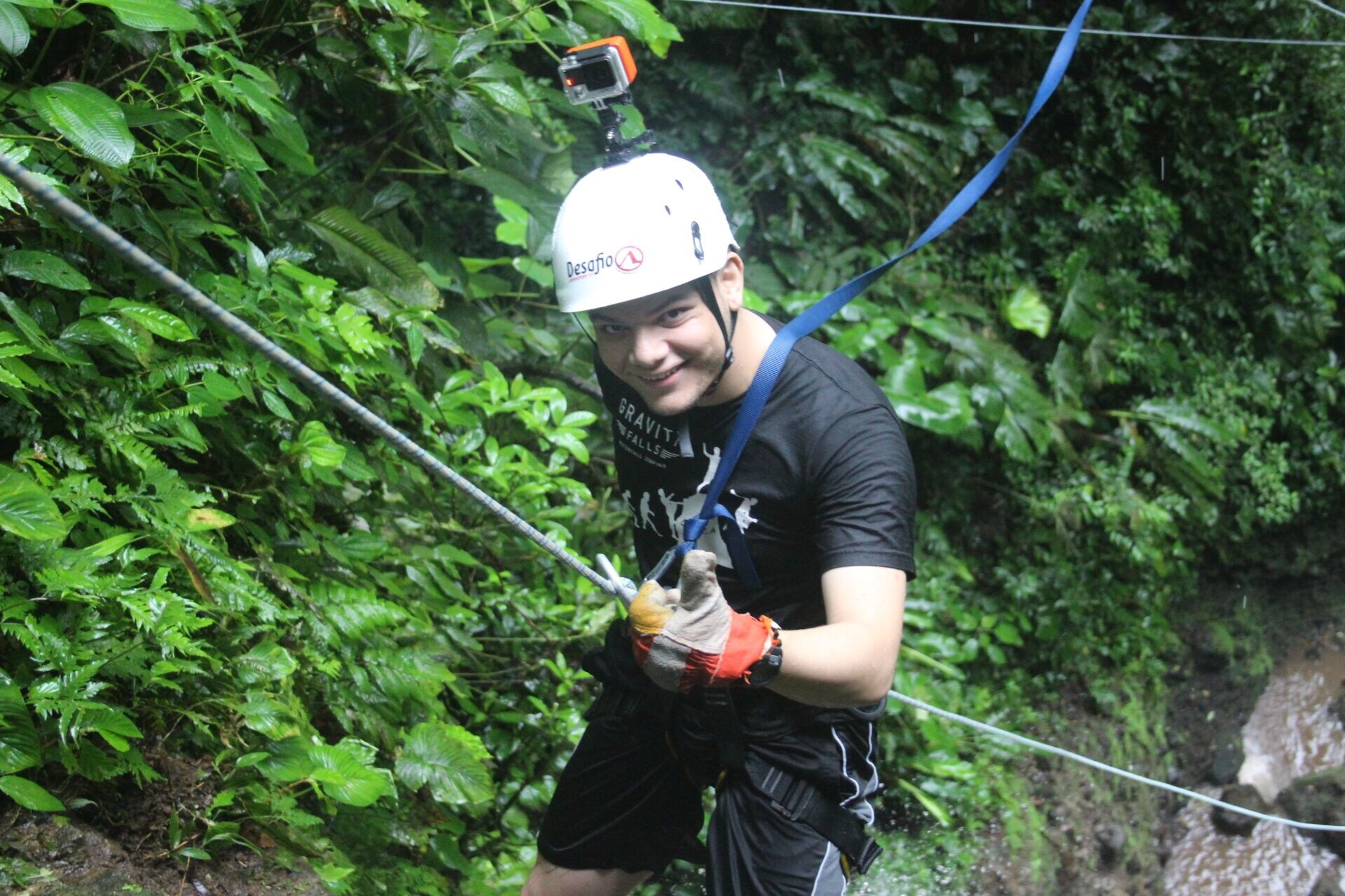 A very private canyoning experience with Desafio in Costa Rica.