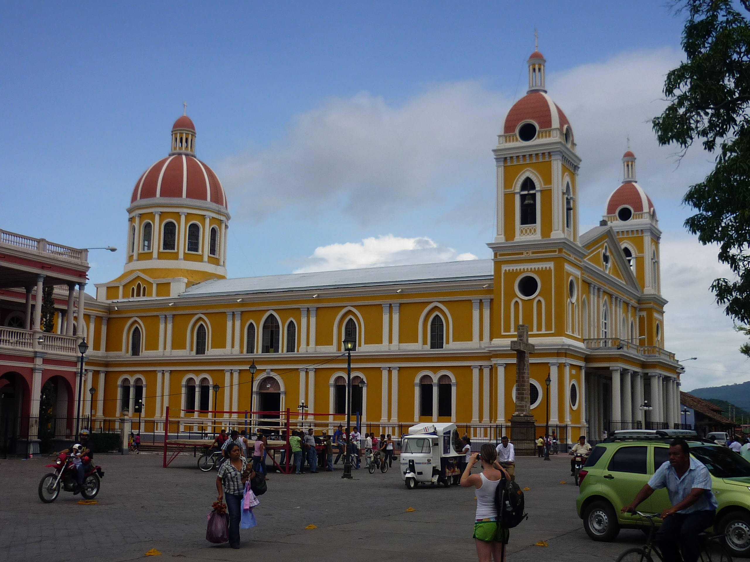 Granada Nicaragua Cathedral is a stunning landmark.