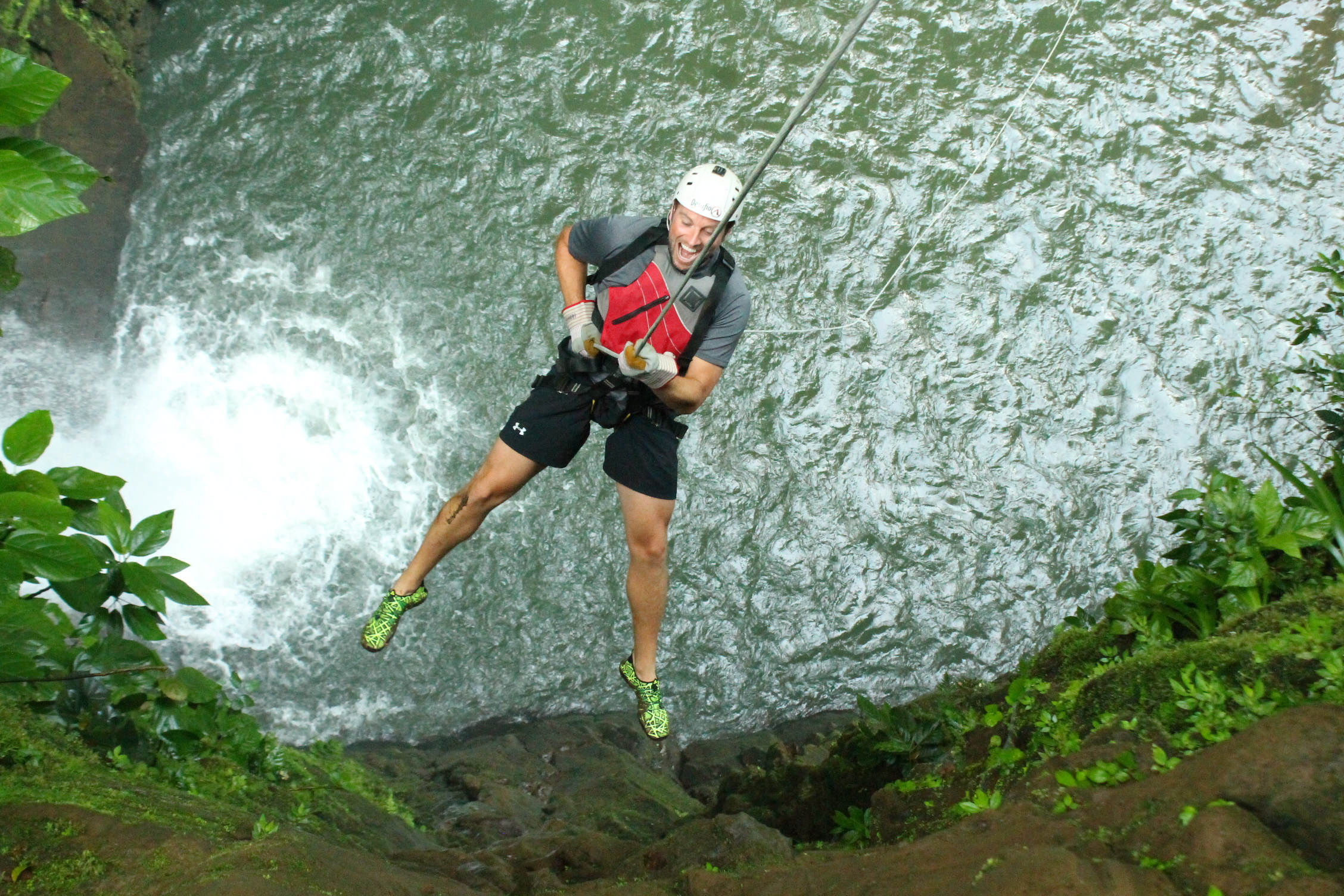The most unique adventure activity in Costa Rica! One of the TOP activities in the world! Gravity Falls Waterfall Jumping