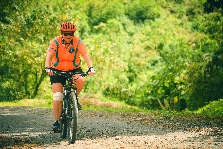 Biking near the Arenal Volcano