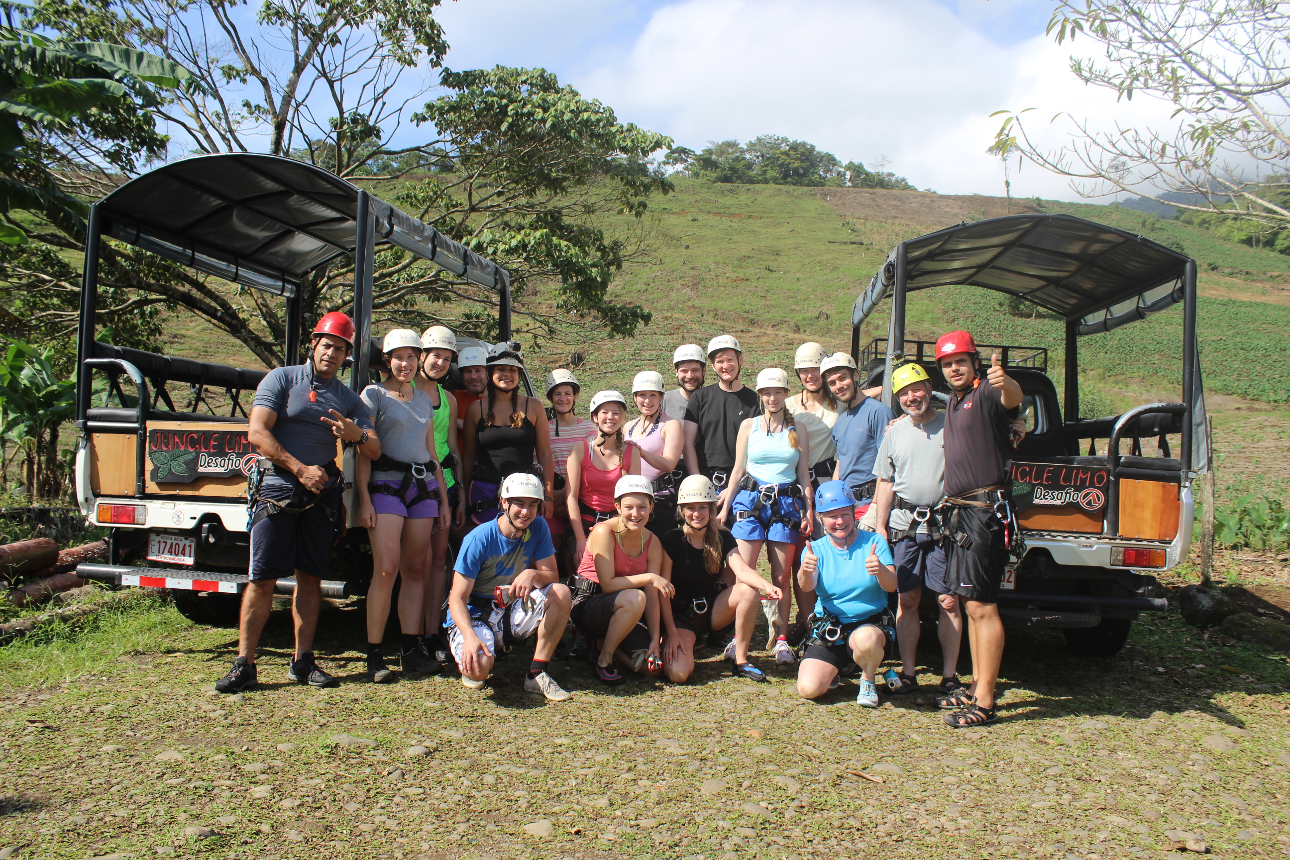 Meet new friends canyoning and ziplining with Desafio in Costa Rica.