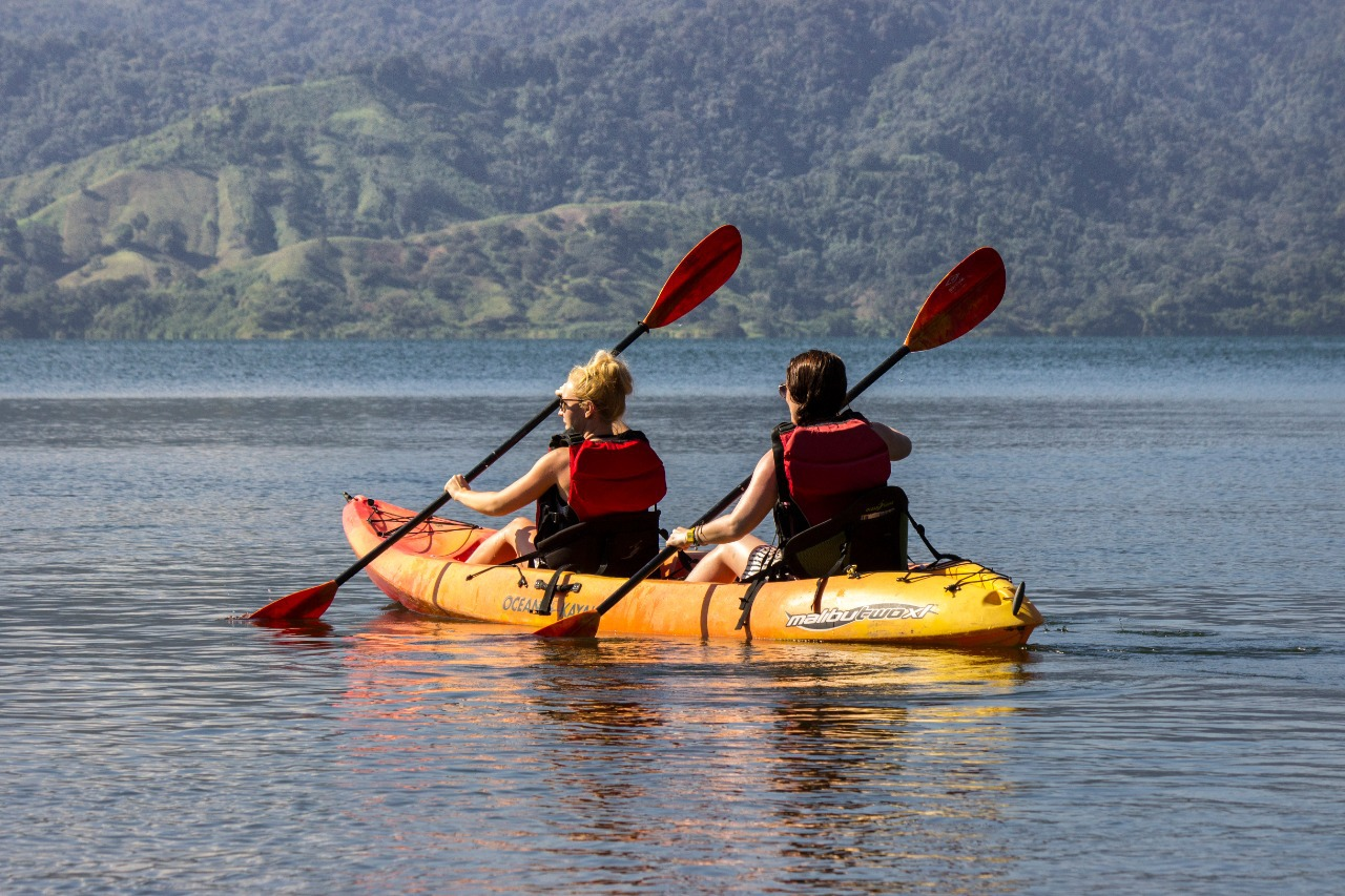 Kayak across Lake Arenal as you enjoy the best view to the Arenal Volcano!