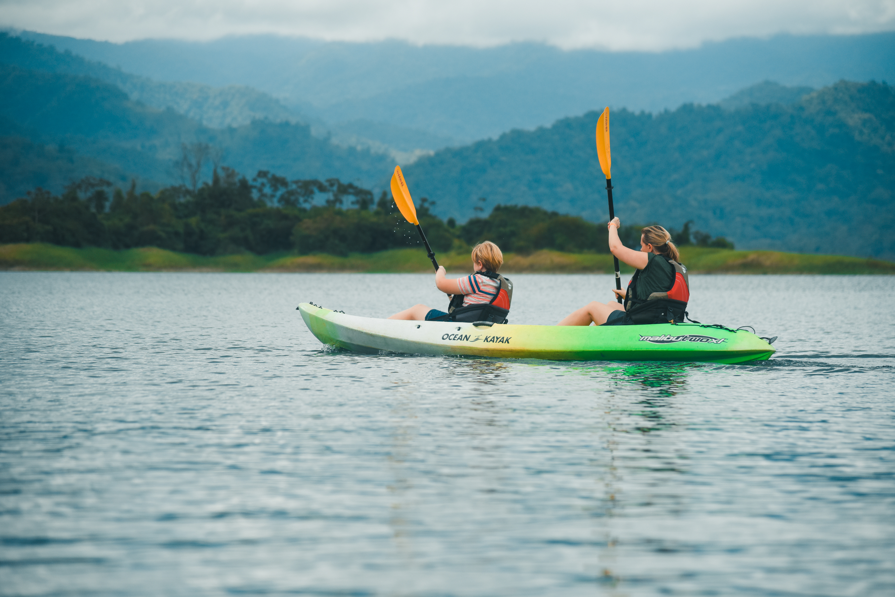 Family Vacation! Kayaking on Lake Arenal Costa Rica