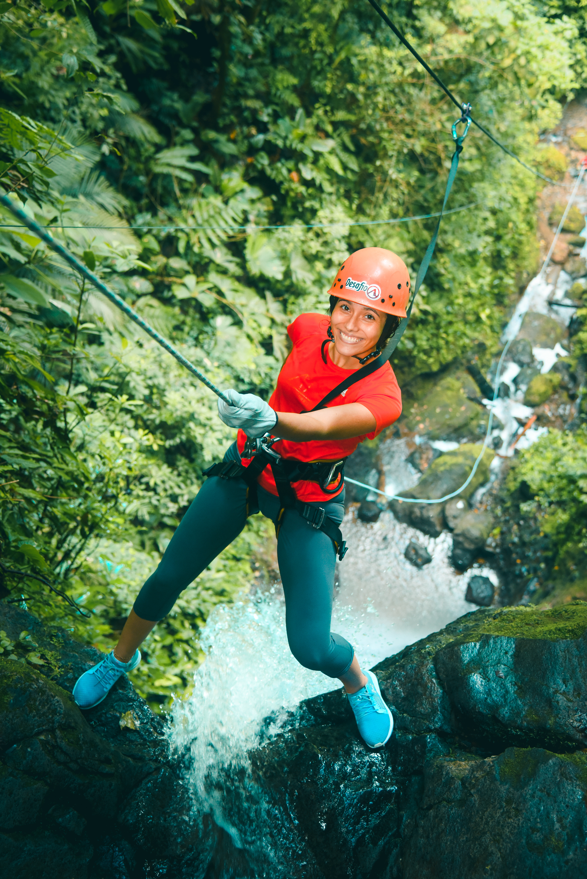 Spend the morning rappeling down pounding waterfalls that are up to 200 feet high