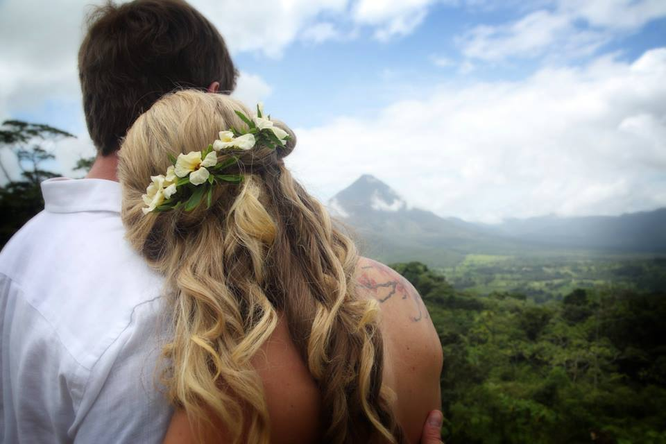 Wedding Day in Costa Rica with Blue Butterfly and Desafio Adventure Company.