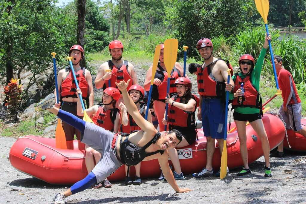Having fun as a group in Costa Rica.