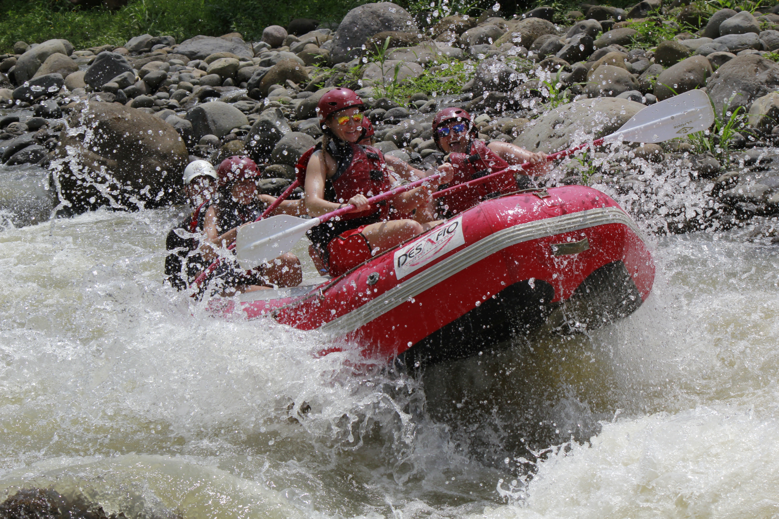 Intense adrenaline rafting with Desafio in Costa Rica.