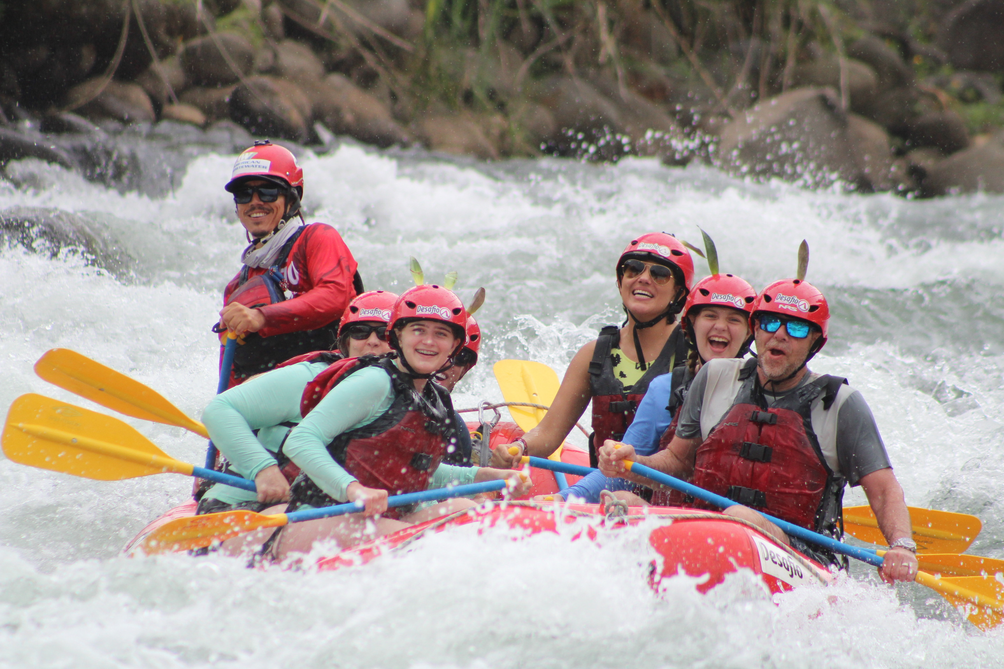 Rafting is a must to in Costa Rica