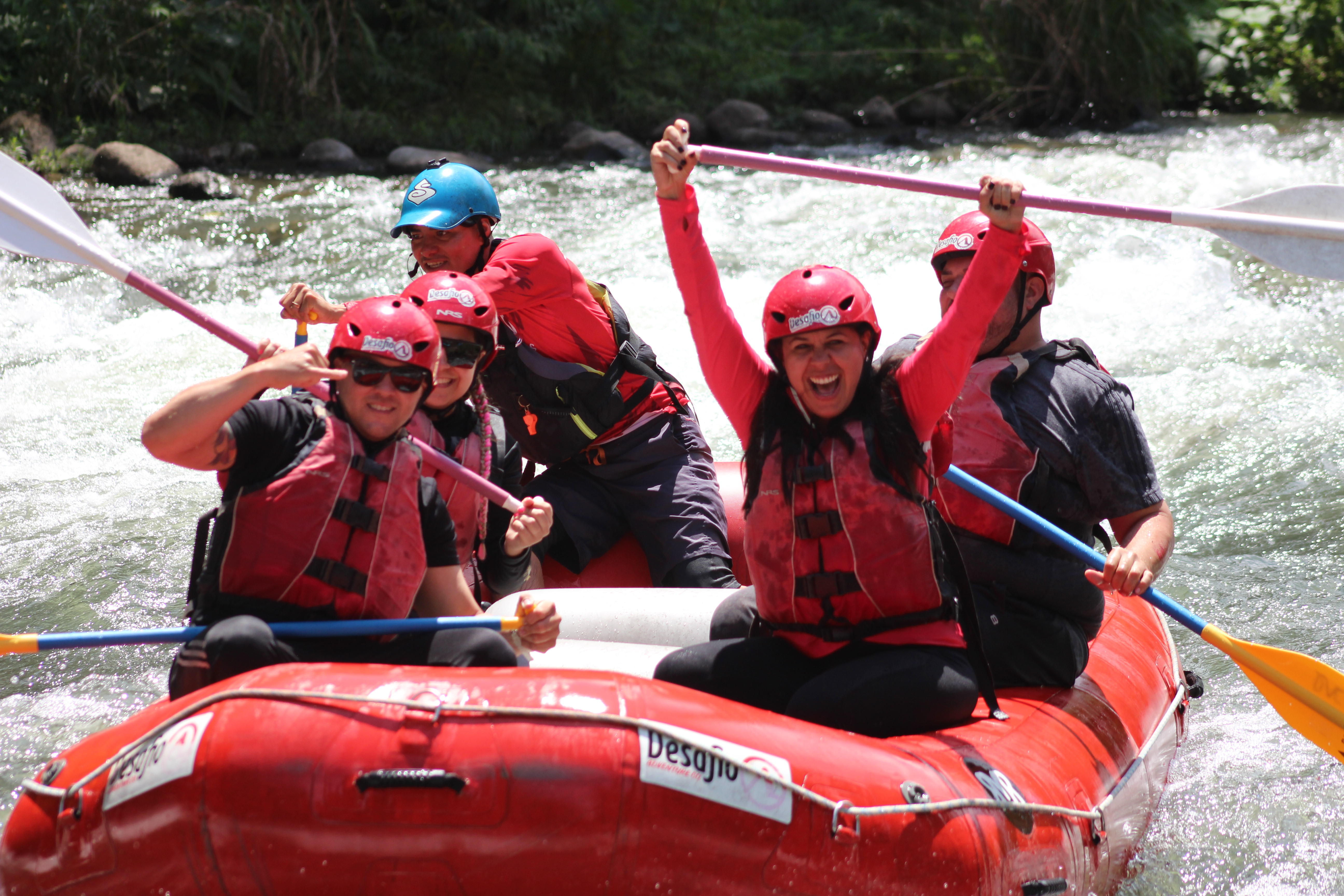 One of the most-extreme white waterrafting trips in Costa Rica!