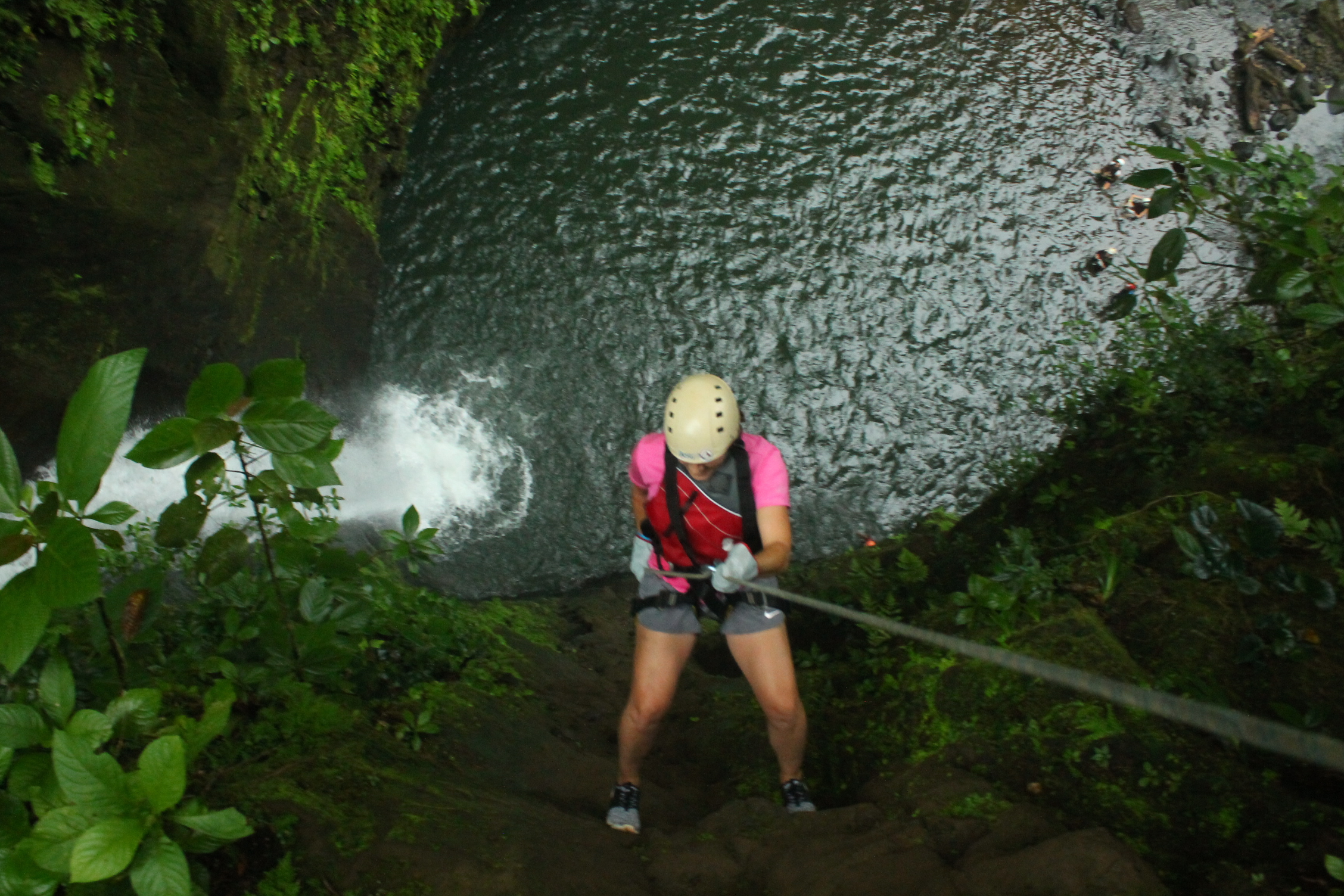 Go waterfall rappelling in Costa Rica in an amazing canyon in Gravity Falls.