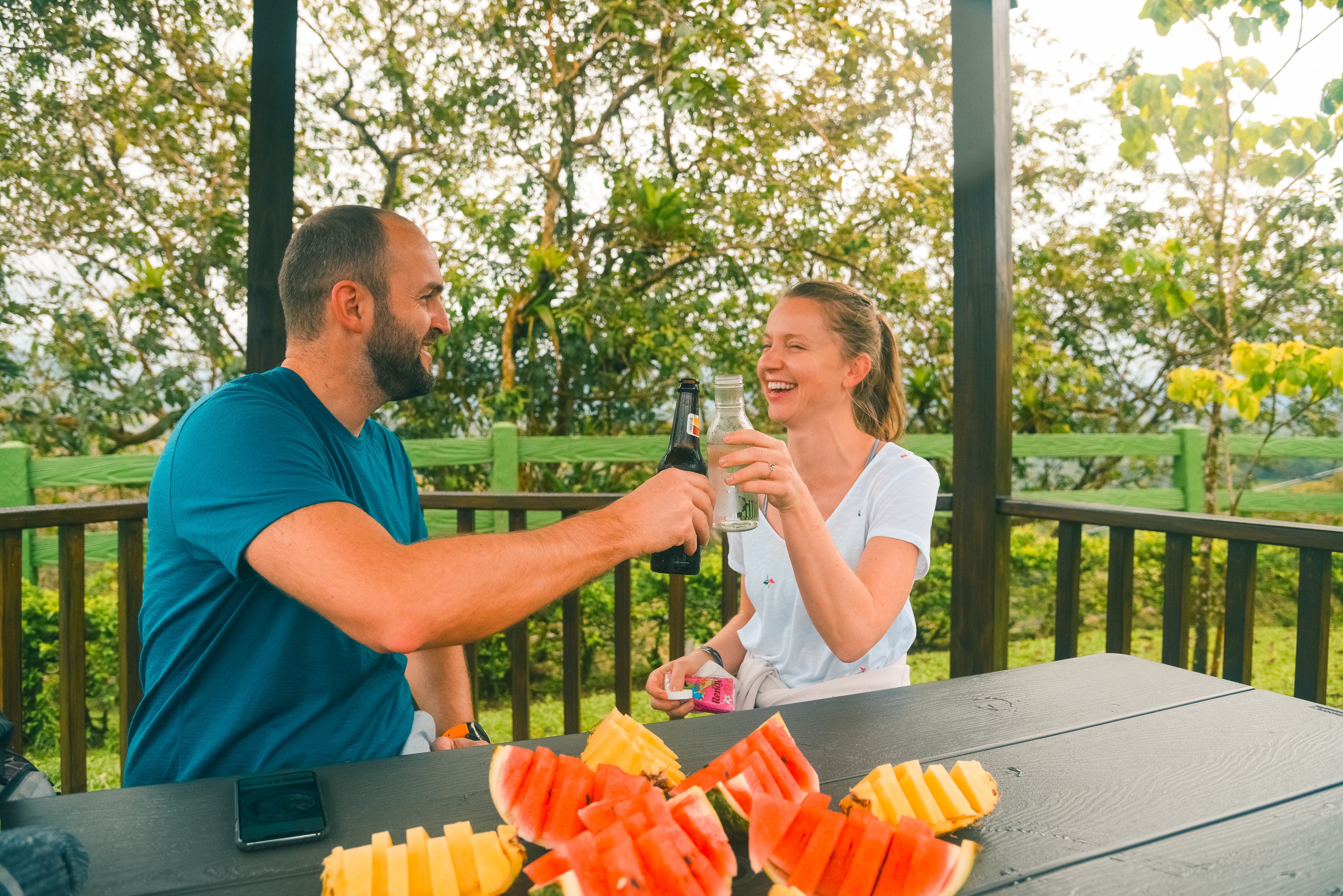 Have an exquisite tropical snack after an incredible hanging bridge walk in Arenal Volcano.