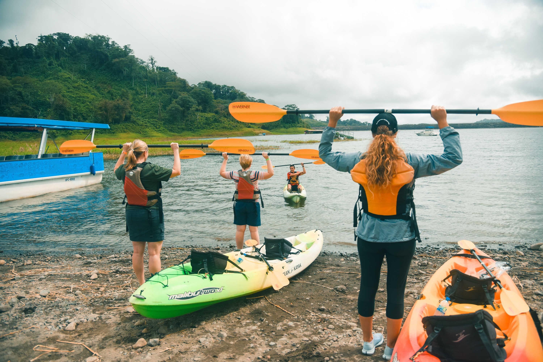 Family Vacation! Kayaking on Lake Arenal Costa Rica