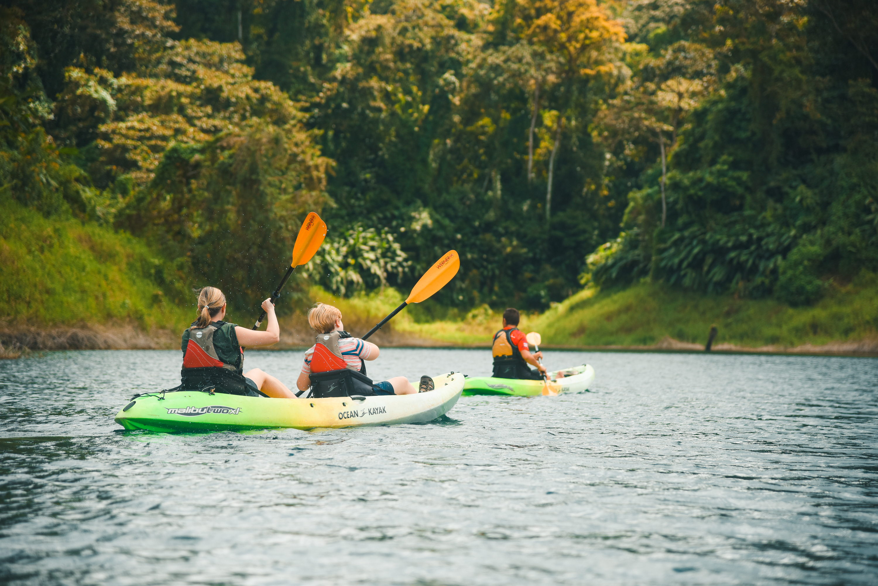 Kayaking on Lake Arenal