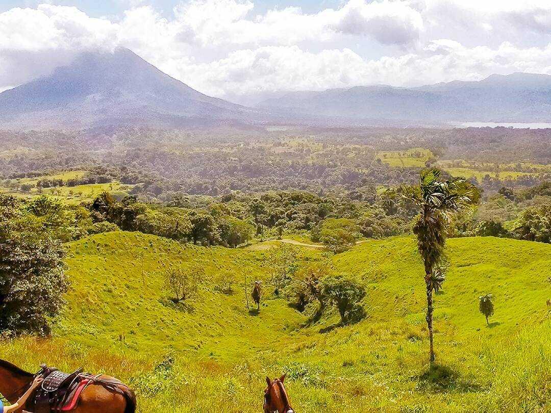 The best La Fortuna Arenal to Monteverde horseback ride.