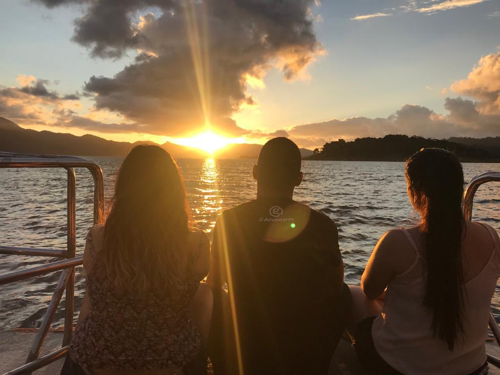 Have the best sunset on Lake Arenal!