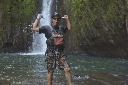 Gravity Falls Waterfall Jumping in Costa Rica.