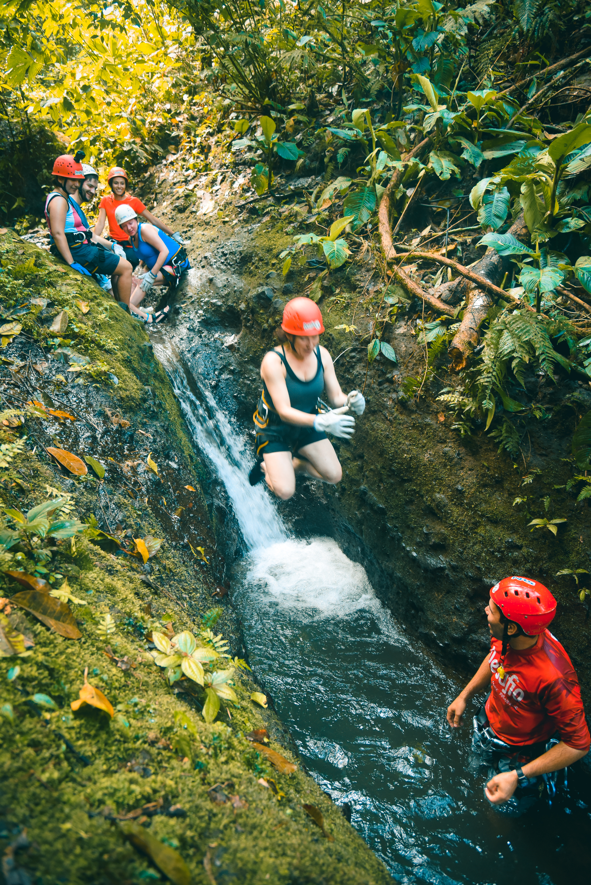 Go beyond your limits in our Lost Canyon Waterfall Rapel with Desafio Adventure Company.