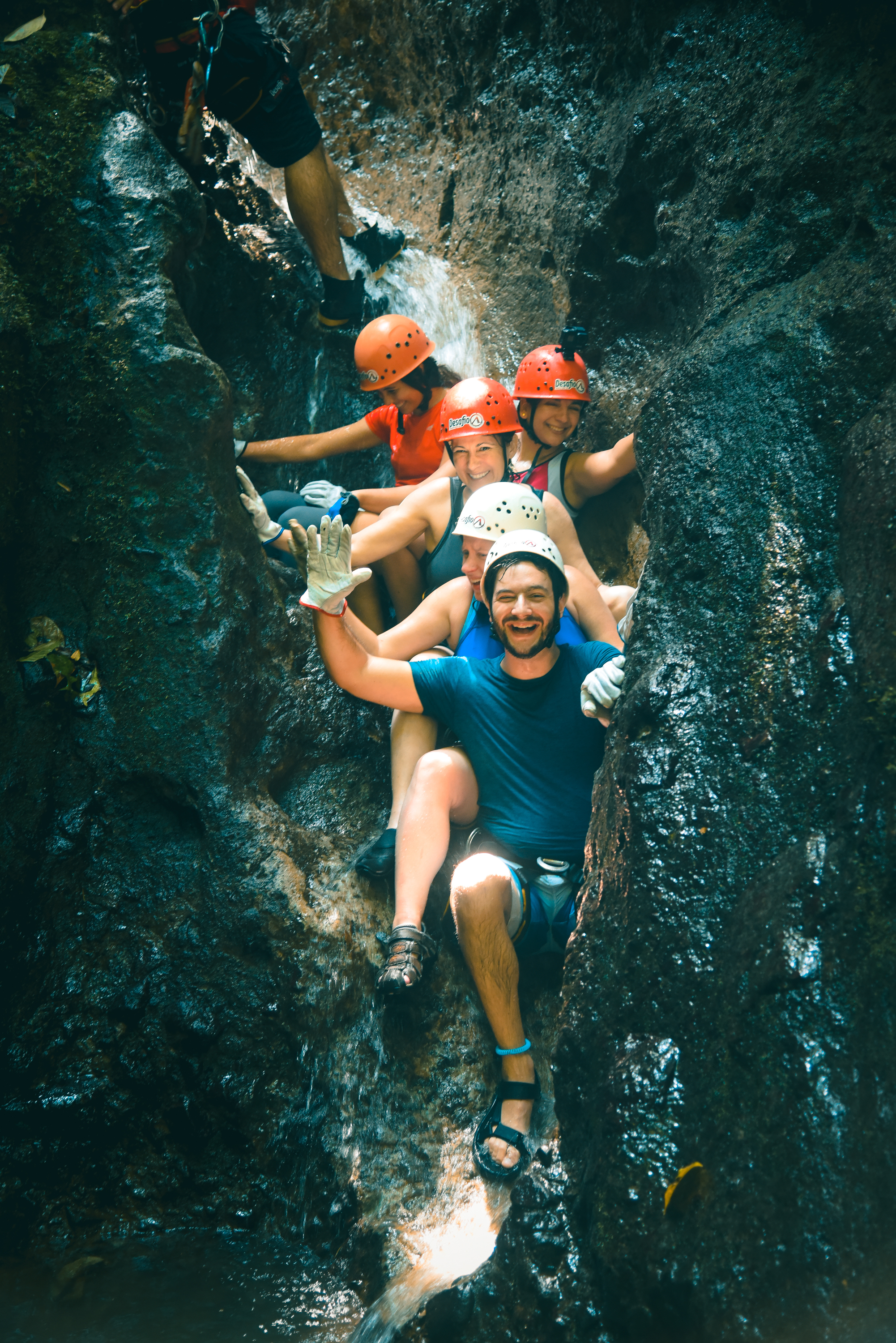 Wait for the amazing Costa Rica Tsunami in our lost Canyon Waterfall Rappelling.