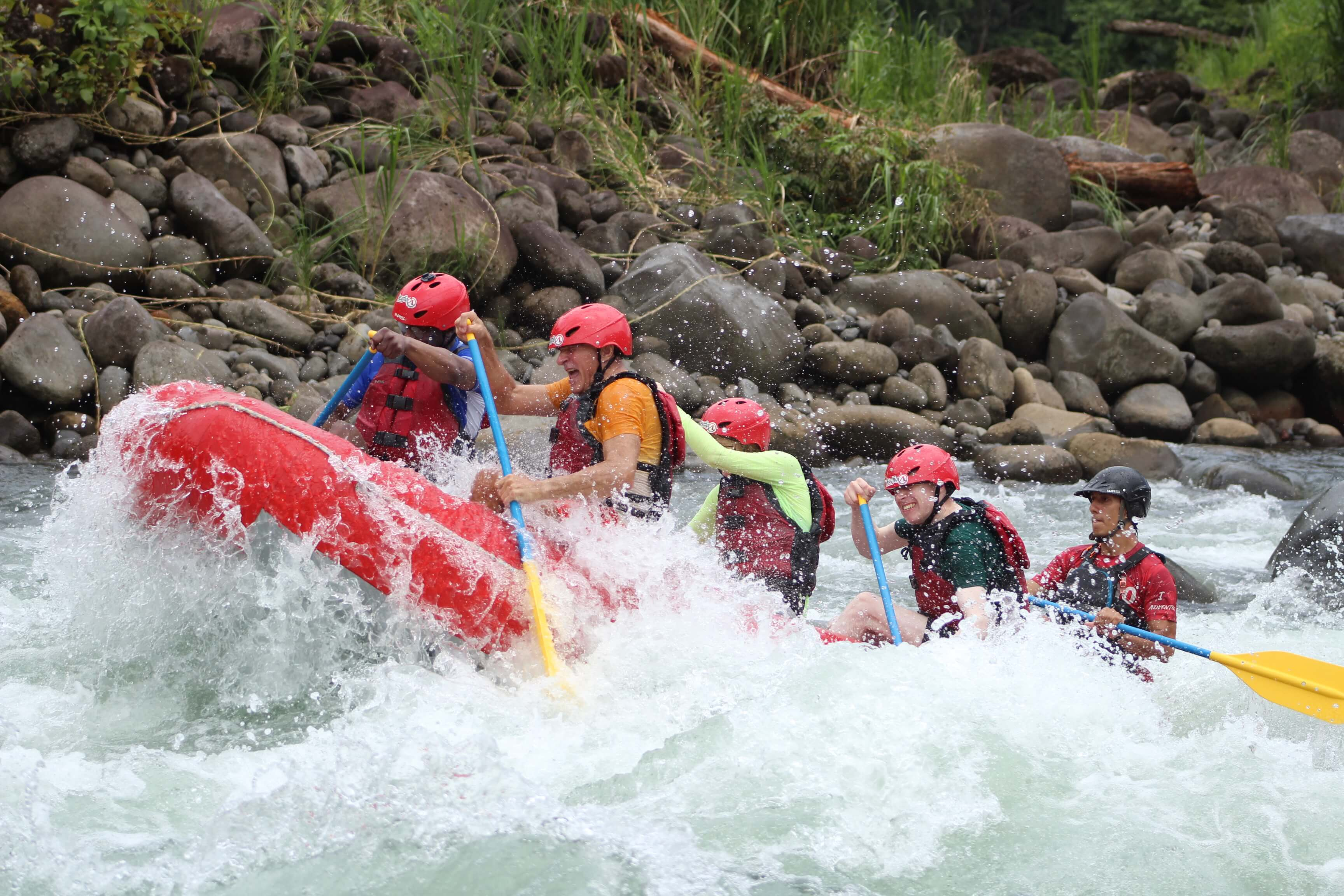 Try white water rafting with a private guide and small group in Costa Rica with Desafio Adventure Company.