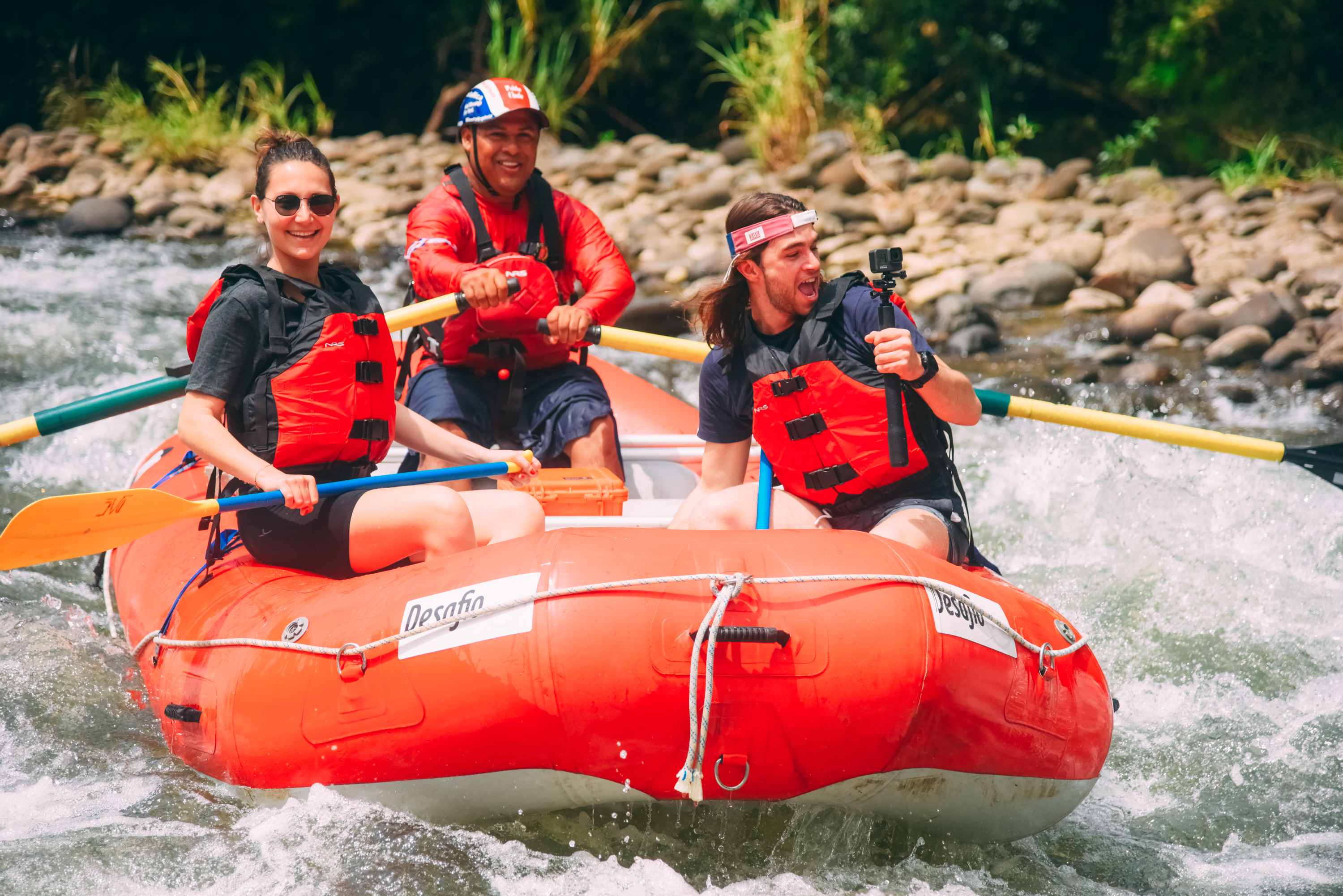 A great way to see nature - whitewater and wildlife Jungle Safari Float with Desafio.