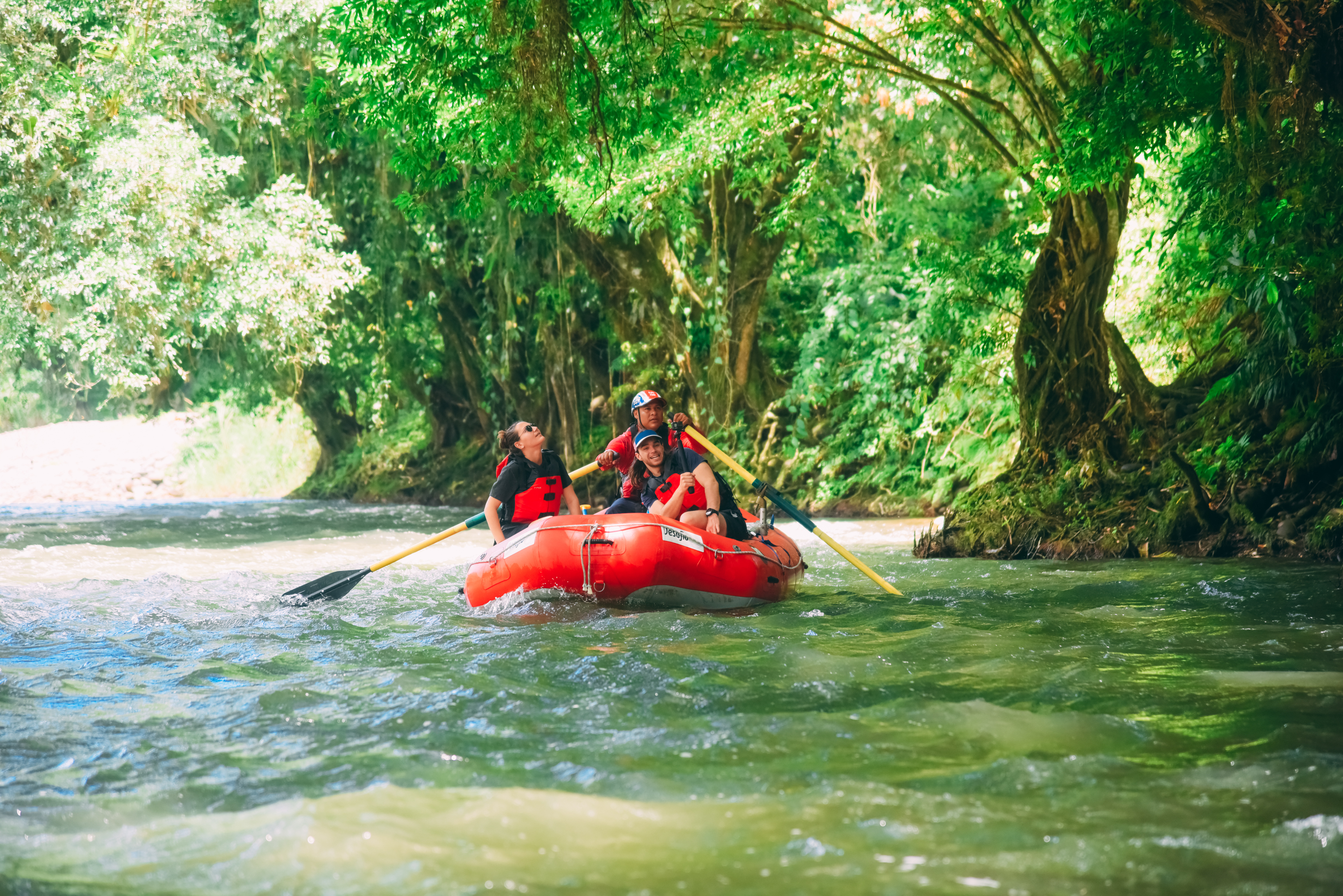 A great feel the nature of Costa Rica - do our whitewater and wildlife Jungle Safari Float with Desafio.