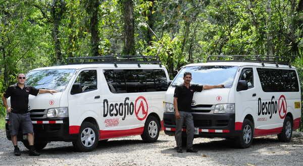 Private transfer Costa Rica with Desafio: safe, reliable, bilingual, free WiFi