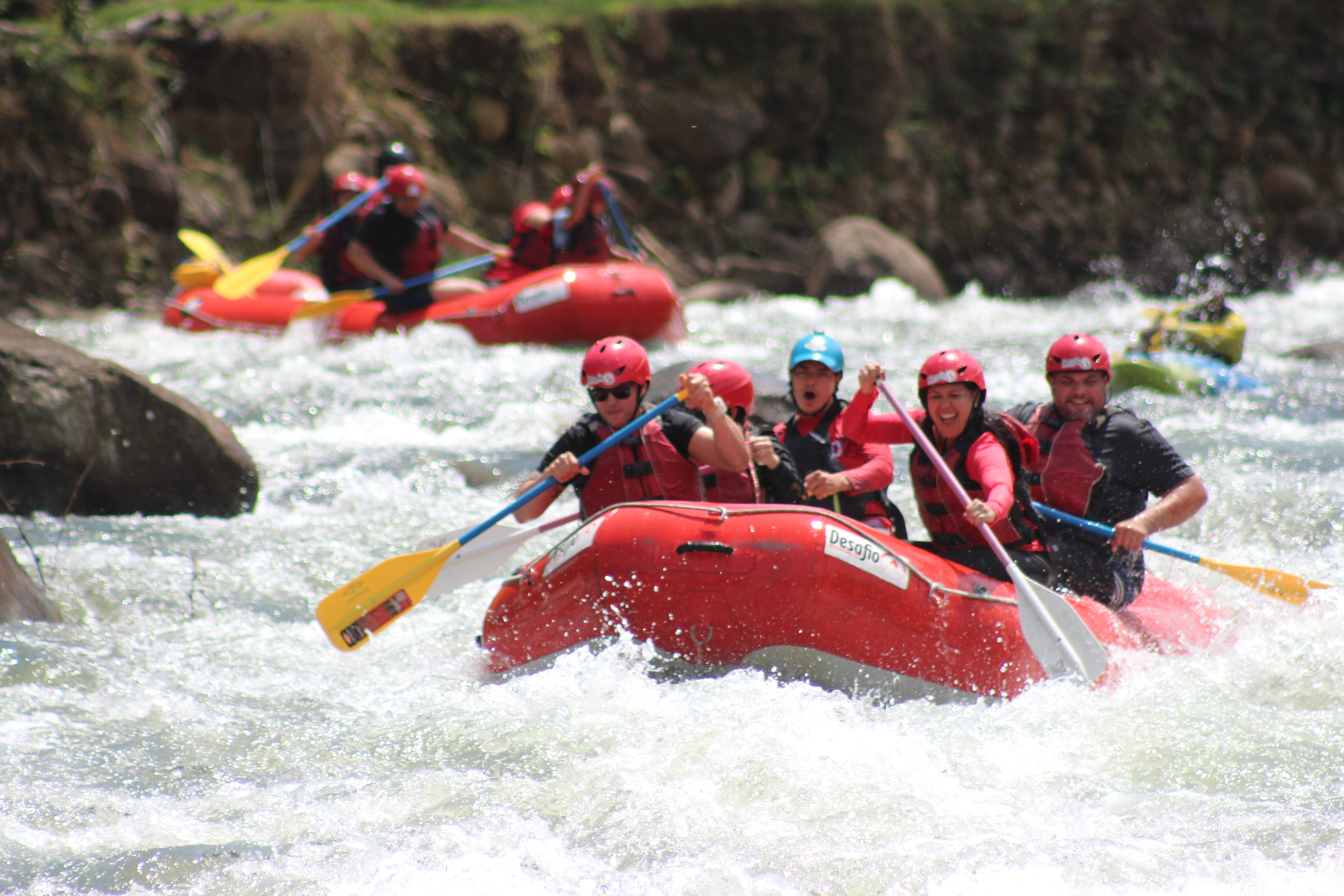 Awesome white water rafting action!
