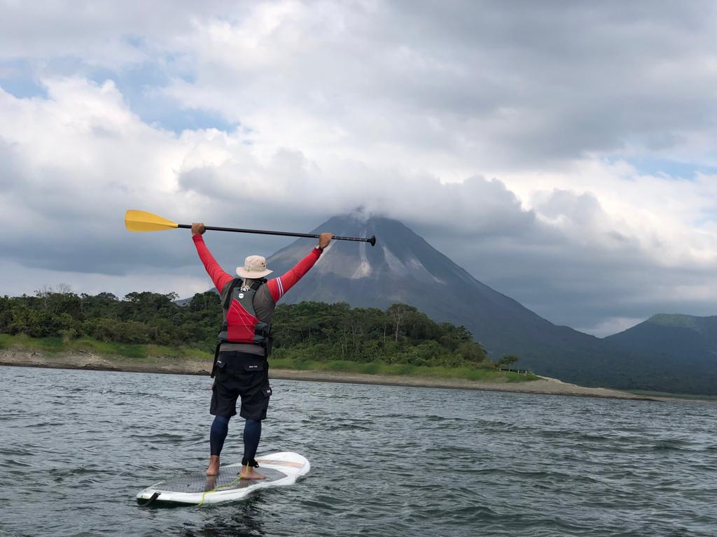 Paddle across Lake Arenal as you travel to your next destination.
