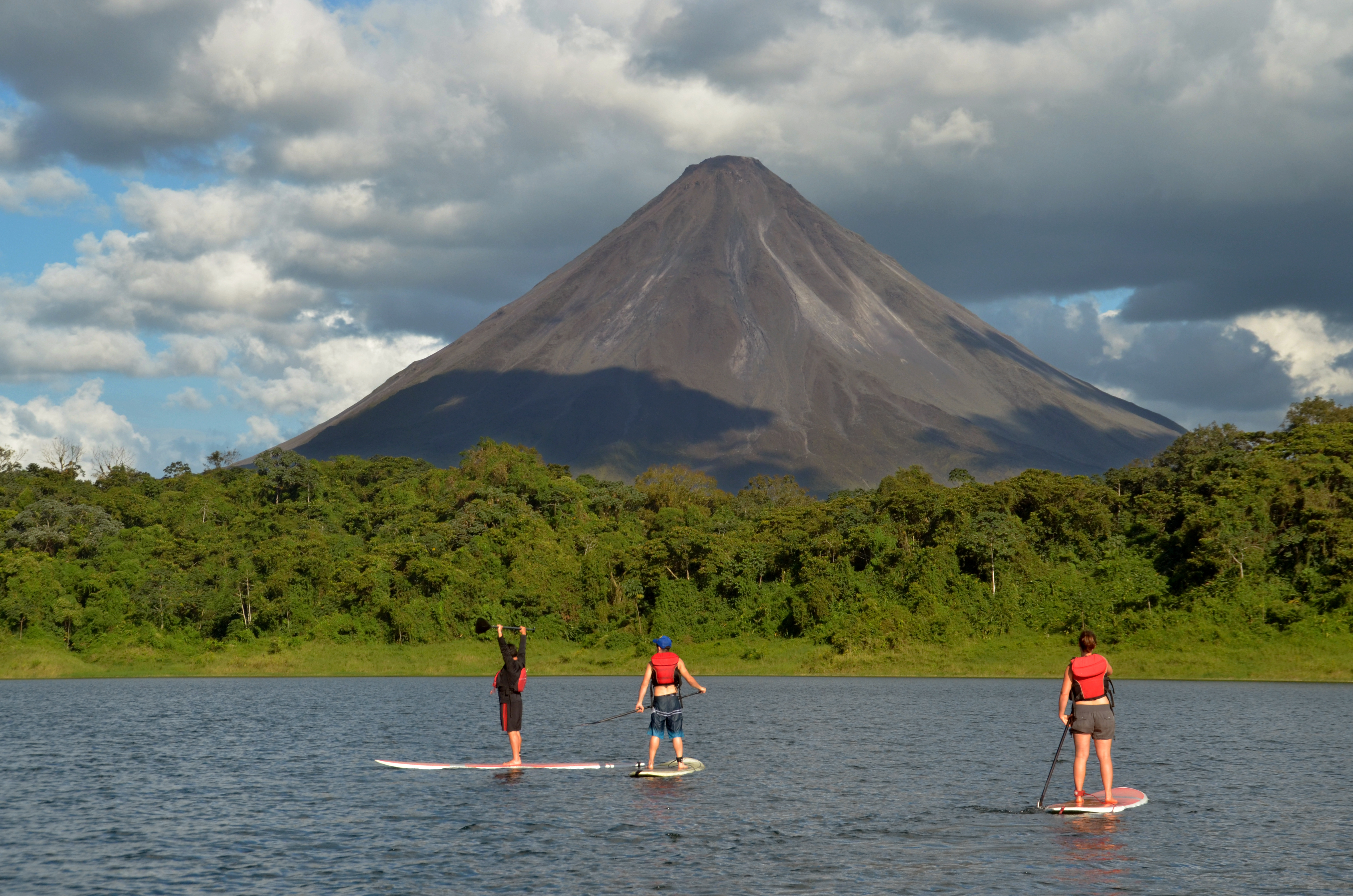 Stand Up Paddling SUP on Lake Arenal