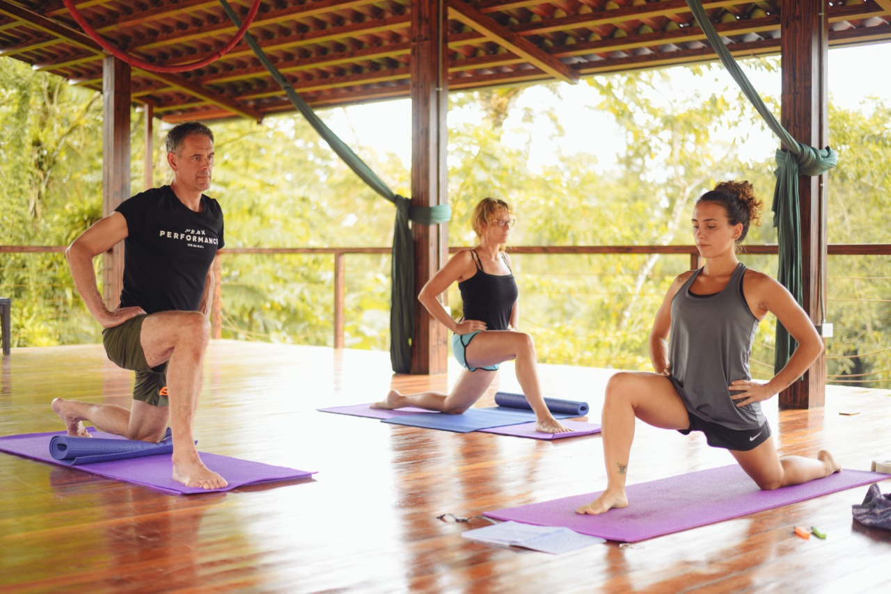 The best yoga class in La Fortuna near the Arenal Volcano at the Desafio Active Wellness Center.