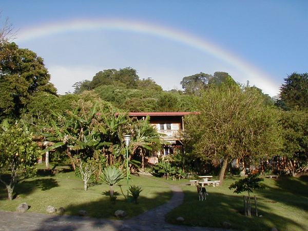 Arco Iris Lodge is a oasis located near the center of town of Santa Elena but still surrounded by acres of vegitation and hiking trails.