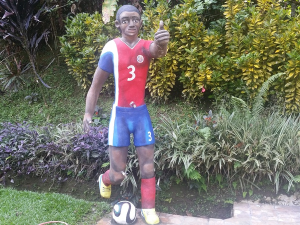 Blessed House near Puerto Viejo is all about soccer.