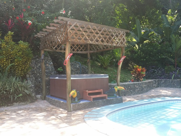 Blessed House near Puerto Viejo has a nice jacuzzi.