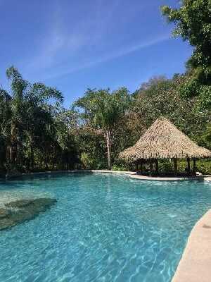 Great pool at the Borinquen Resort near the Rincon de la Vieja volcano