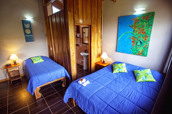 The comfortable rooms at Cala Lodge in Monteverde are affordable and comfortable - a great choice for couples or families visiting the cloud forest!