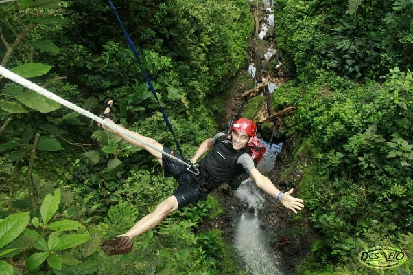 The Lost Canyon Adventures canyoneering with Desafio is an amazing Arenal adventure tour