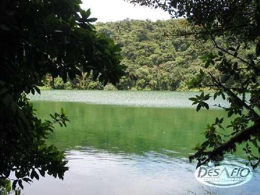 Emerald green lake Cerro Chato!