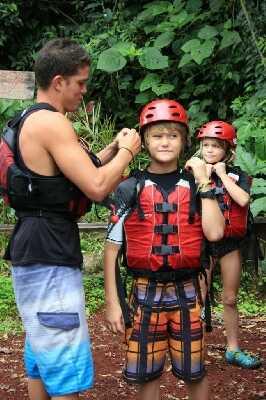Fun rafting for kids with Desafio in Costa Rica.