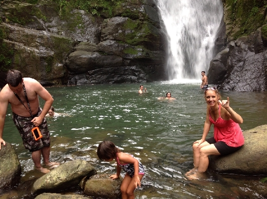 Refreshing waterfall in Costa Rica!