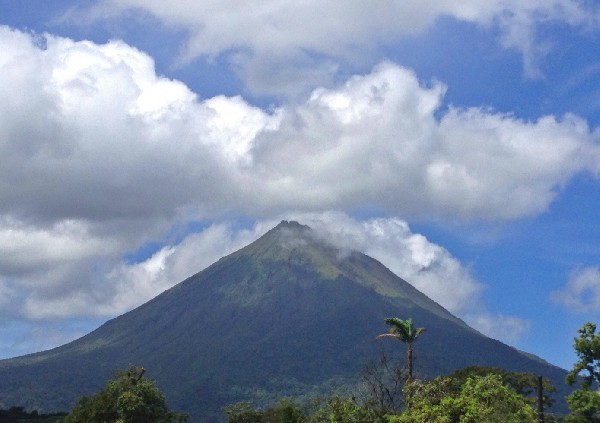 This is the view from your amazing hotel near the Arenal Volcano.