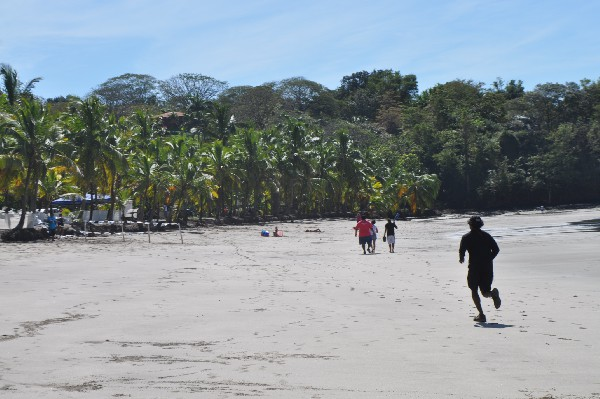 Running on the beach in Costa Rica