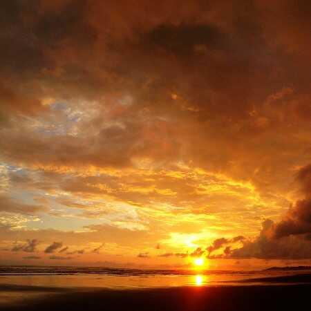 A night run on the beach in Tamarindo