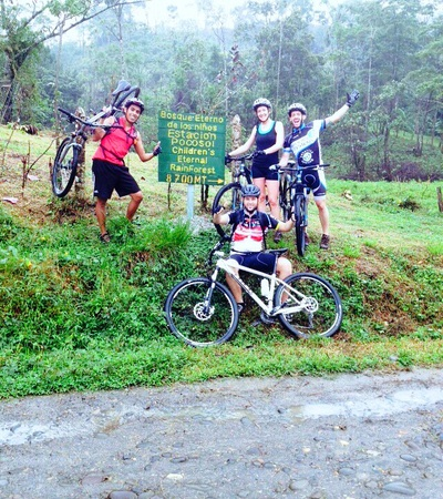 Happy moments on our Extreme Mountain Bike Ride in Costa Rica
