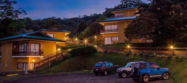Built on a hillside to take advantage of the amazing views of the Nicoya Peninsula and the Monteverde cloud forest.